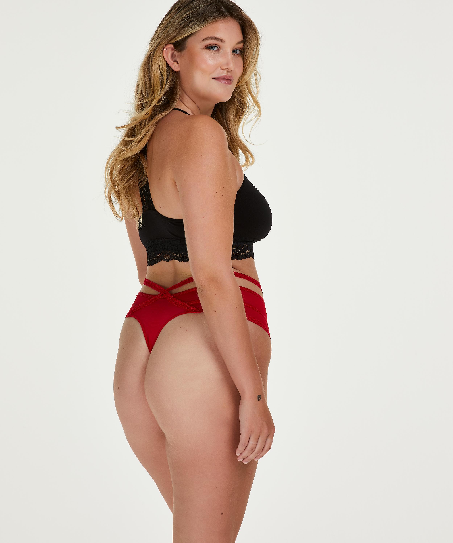 Bonnie high thong Curvy, Red, main