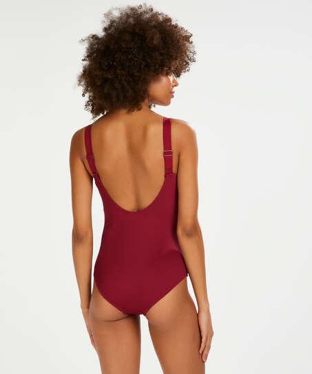 Golden Rings swimsuit, Red