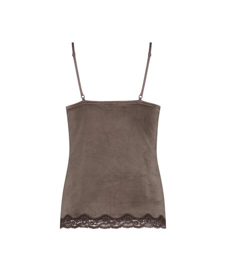 Velvet Lace Cami, Brown