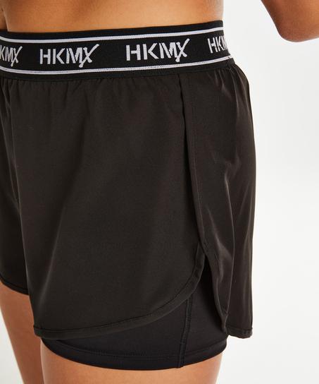 HKMX Sports Shorts, Black