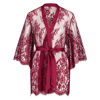 Isabelle Lace Kimono, Red