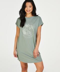 Round Neck Nightshirt, Green