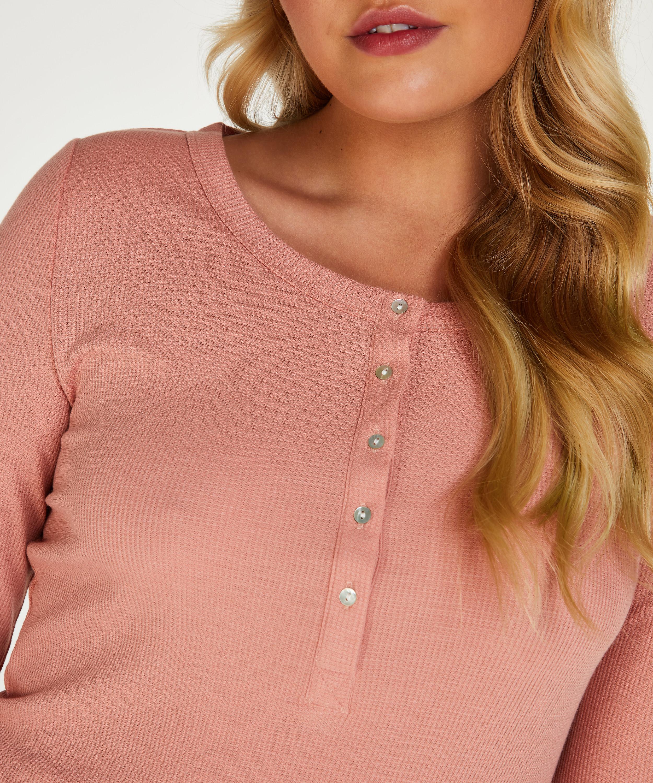 Long-Sleeved Pyjama Top , Pink, main