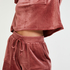 Velvet Pocket shorts, Pink