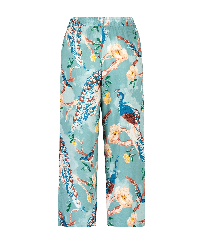 Painted Peacock Pyjama Pants, Blue, main
